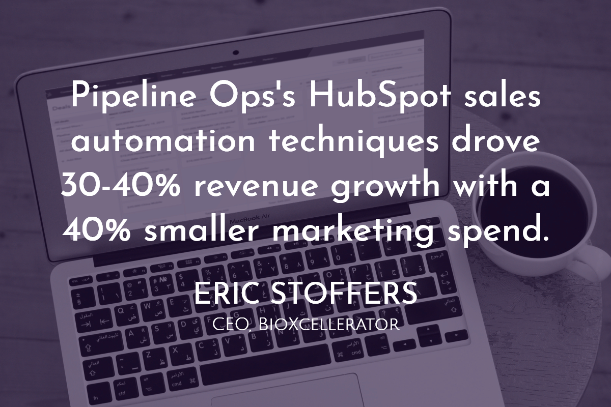 HubSpot sale automation increased revenue by 40% with a smaller marketing budget